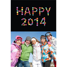 Personalized New Year Cheer 2017 Lenticular Greeting Card