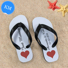 Design My Own Personalized Love Message Kids Medium Flip Flops
