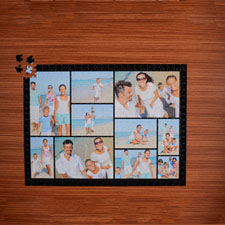 Black Ten Collage 18 X 24 Photo Puzzle