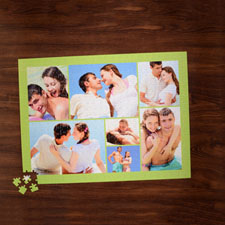Lime Seven Collage 18 X 24 Photo Puzzle