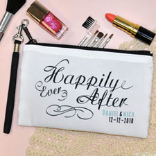 Personalized Personalized Wedding Happy Ever After Wristlet Bag (Medium Inch)