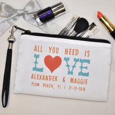 Personalized Personalized Love Wedding Wristlet Bag (Medium Inch)