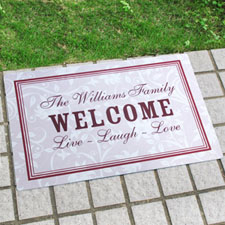Create Your Own Personalized Elegant Monogrammed Door Mat