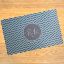 Create Your Own Personalized Aqua Chevron Door Mat