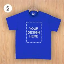 Custom Print Cotton Royal Blue Portrait Image Adult Small T Shirt