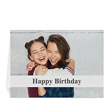 Custom C White Photo Birthday Cards, 5X7 Folded Causal