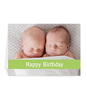Custom Birthday Lime Photo Cards, 5X7 Folded Causal