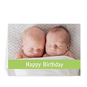 Custom Birthday Lime Photo Cards, 5X7 Folded Causal