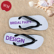 Design My Own Bridal Party Women Medium Flip Flop Sandals