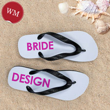Design My Own Bride Design Women Medium Flip Flop Sandals
