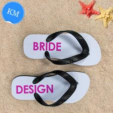 Design My Own Bride Design Kids Medium Flip Flops