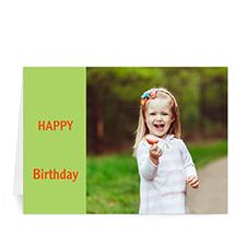 Custom Birthday Lime Photo Cards, 5X7 Folded Modern
