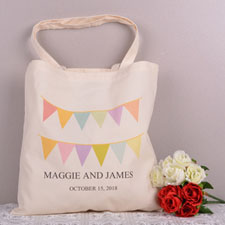 Love And Thanks Custom Cotton Tote Bag