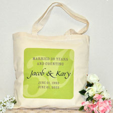 Personalized Tote For 50Th Anniversary