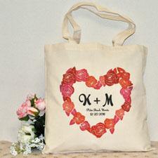 Romance Heart Custom Cotton Tote Bag