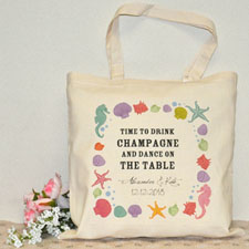 Destination Wedding Custom Cotton Tote Bag
