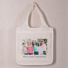 Full Landscape Image & Text Folded Shopper Bag