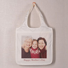 Square Image & Text Folded Shopper Bag