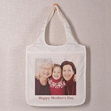 Square Image & Text Folded Shopper Bag