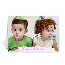 Custom Happy Birthday Photo Cards, 5X7 Landscape Folded
