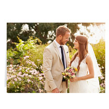Custom Wedding Photo Cards, 5X7 Landscape Folded