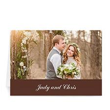 Custom Chocolate Wedding Cards