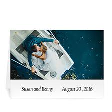 Custom Classic White Wedding Photo Cards, 5X7 Folded Simple
