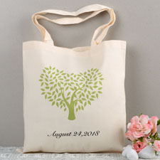Oak Tree Wedding Custom Cotton Tote Bag