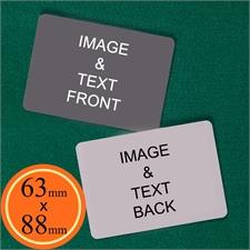 63 X 88Mm Custom Cards (Blank Cards) Landscape