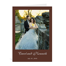 Custom Chocolate Wedding Color Cards