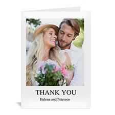 Personalized Classic White Wedding Photo Cards, 5X7 Portrait Folded
