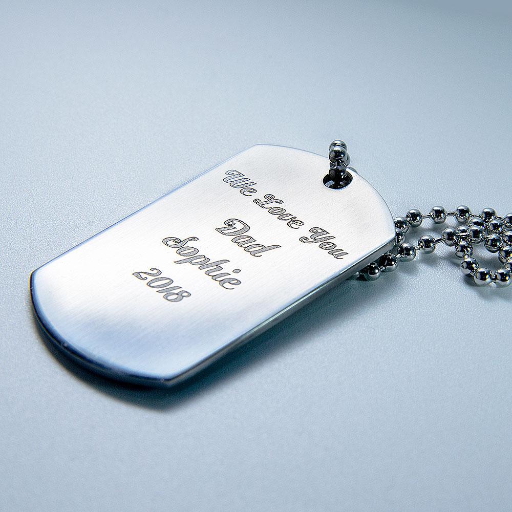 laser engraved message