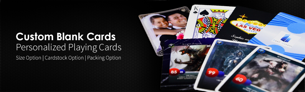 Custom Game Cards and Personalized Playing Cards