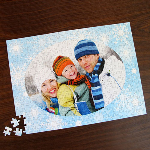 Personalized Snowflakes 12X16.5 Jigsaw Puzzle