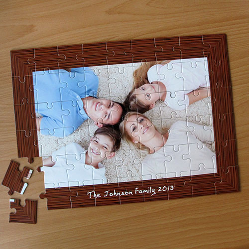 Personalized Natural Frame 12X16.5 Jigsaw Puzzle