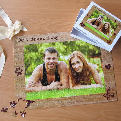 Personalized Our Valentine's Day 12X16.5 Jigsaw Puzzle