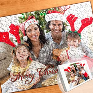 Custom Large Christmas Photo Jigsaw Puzzle, Horizontal