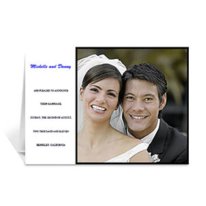 Personalized Classic White Wedding Photo Cards, 5X7 Folded Modern