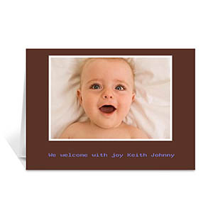 Personalized Chocolate Baby Photo Cards