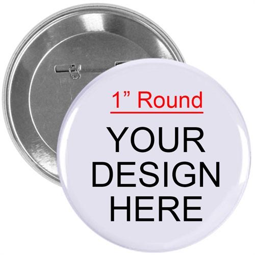 Full Color Imprint Custom Button Pin, 1