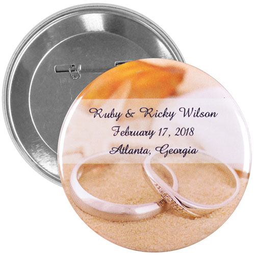 Wedding Favors Personalized Button Pin, 3