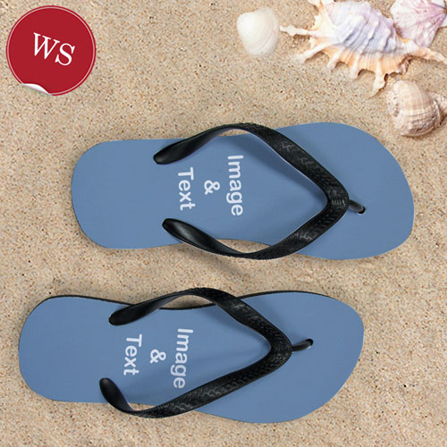 Design My Own Two Landscape Images Women Small Flip Flops
