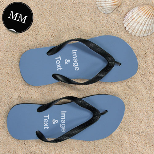 Design My Own Two Landscape Images Men Medium Flip Flop Sandals