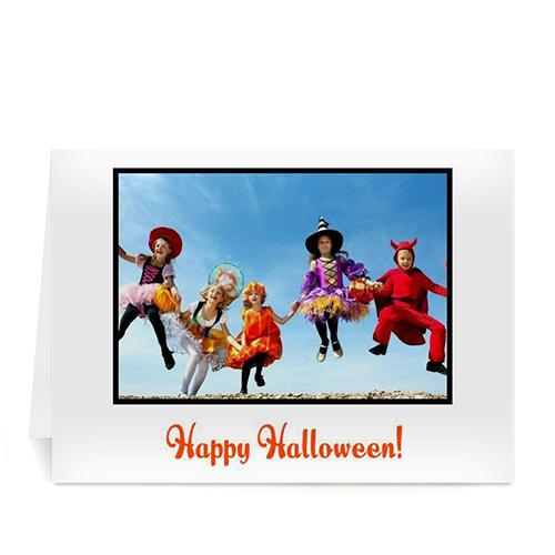Personalized Classic Halloween, White Photo Cards