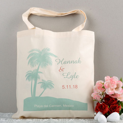Tropical Wedding Palm Tree Bag