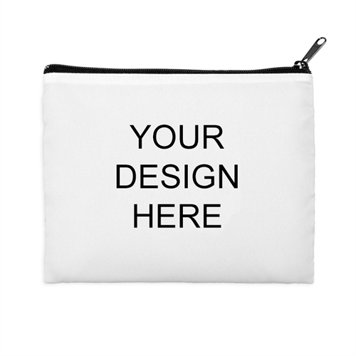 Print Your Own 2 Side Same Image Black Zipper Bag (8 X 10 Inch)
