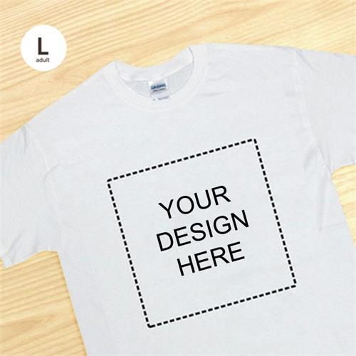 Custom Print Large Square Image White Men Large T Shirt