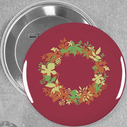 Sweet Floral Wedding Custom Button Pin, 3