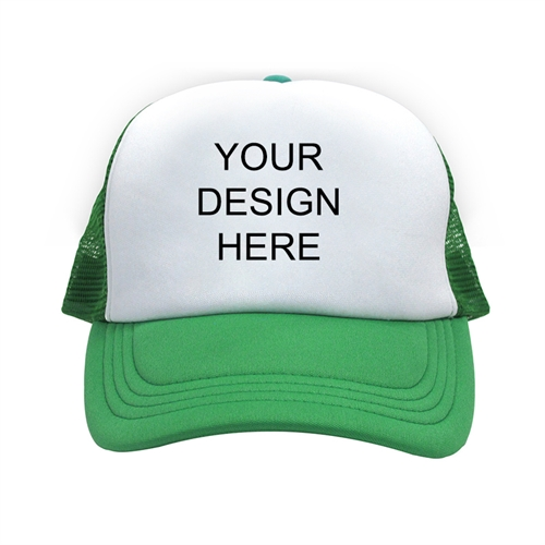 Custom Imprint Full Color Trucker Hat, Green