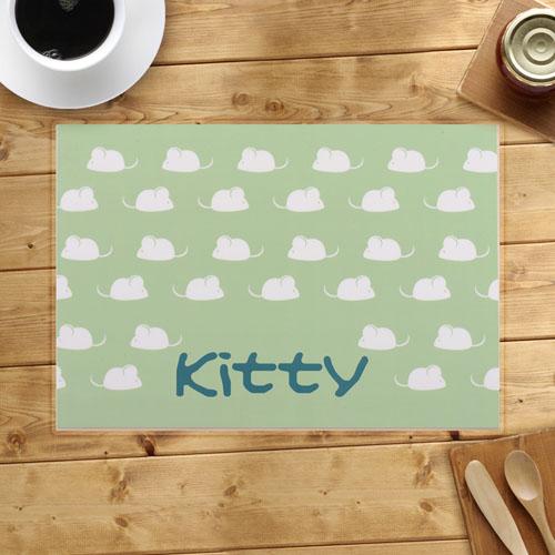 Personalized Kitty Kitchen Placemats